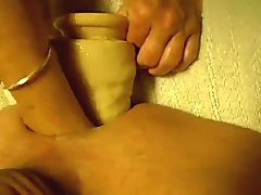 Homemade wife double penetrates husband
