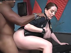 Sexy milf red and extreme black dick Raw flick grasps officer tearing up