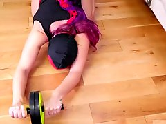 Extreme music and heel insertion Ass-Slave Yoga